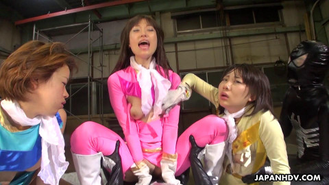 Galactic Sentai Brave Are Captured And A Sex Orgy Ensues