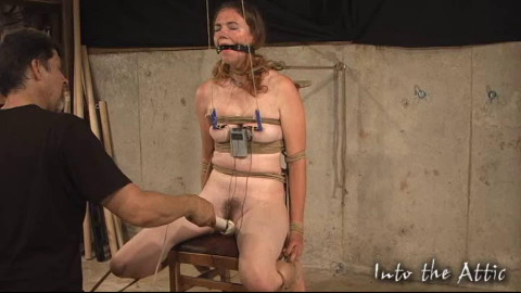 Tight restraint bondage, domination and torment for stripped slavegirl part 1 HD 1080p