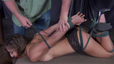Lora Cross: Hogtied and Gagged