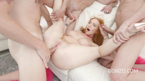 Kiara Lord 1st time to Gonzo for her 1st hardcore experience with Airtight DOUBLE PENETRATION