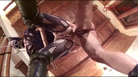 Hard bondage, torture and domination for very horny slavegirl