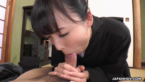 Manami Ueno is caught by her brother in law as this babe masturbates