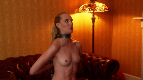 Bondage, spanking and domination for blond bondman part 1 Full HD 1080p