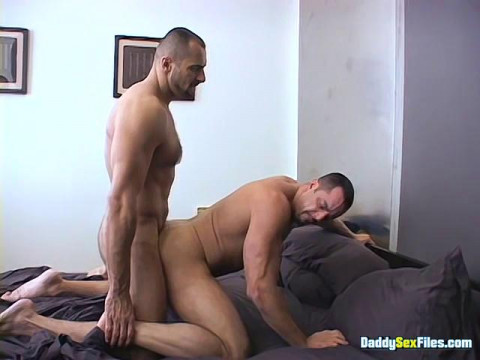 DaddySexFiles - ASS TO MOUTH Curly Hunky Dudes In Daybed