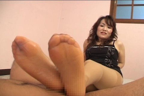 Footjob by japanese leggy girl using bound man - Femdom Fetish