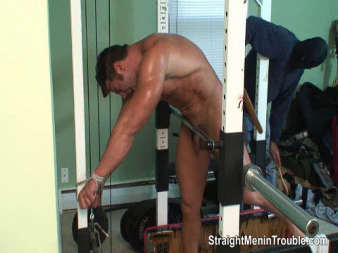 Muscle Man Spanked at the Gym - Part 3
