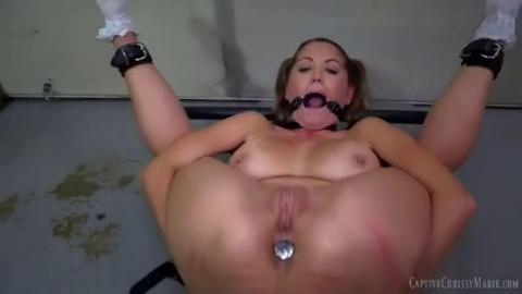 Bondage, spanking, soreness and strappado for concupiscent slut