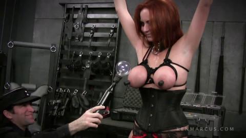 Tight restraint bondage, spanking and punishment for very lustful slavegirl Full HD 1080p