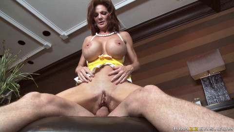 Busty Redhead Lady Goes To The One Guys Nice Big House