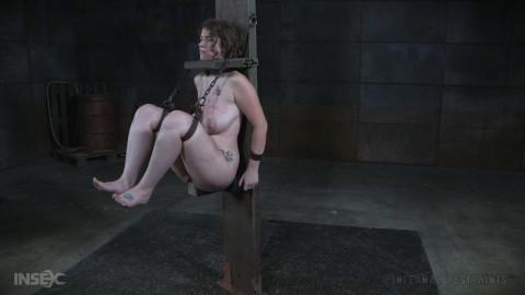 Exclusive Metal Bondage For Curvy Slave