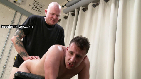 Marc - Strapped to a discipline bench - painful wedgie