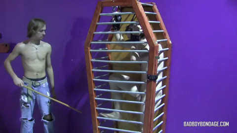 Caged Twink Boy Cum Denial
