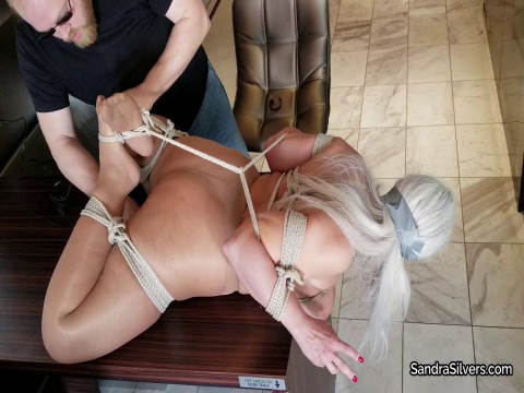 Big Titted MOTHER ID LIKE TO FUCK Hogtied on Kitchen Counter by Burglar for Bound Orgasms!