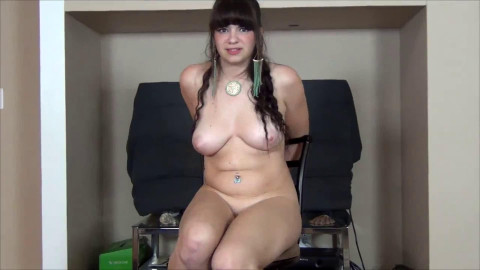 Tight bondage and domination for very sexy horny brunette