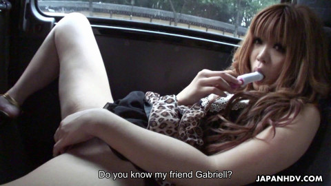 Sarina tsubaki shamelessly receives in natures garb and masturbates in a car