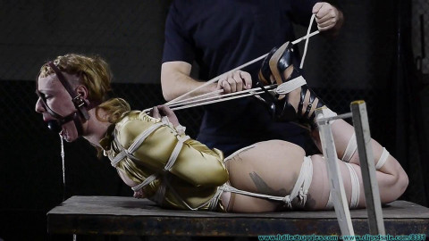 Huge Gags, Drool, and a Reverse Prayer Hogtie for Moxie