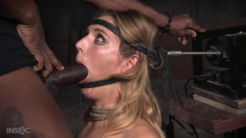 Unstoppable Mona Wales get the BaRS experience on the blowjob machine and a sybian, massive orgasms!