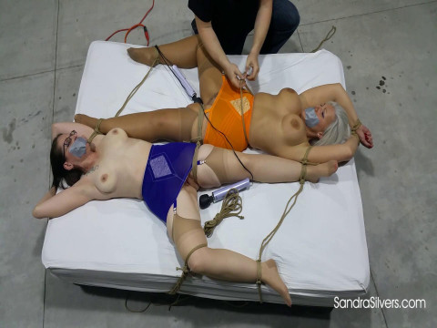 Aggressive Endurance Bondage Orgasm Predicament for 2 Captured