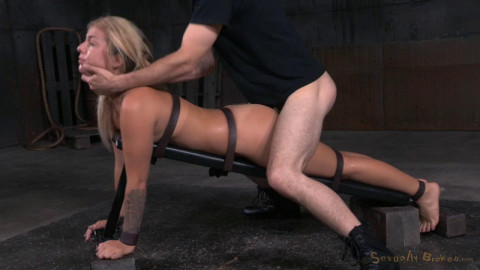 Pretty blonde roughly fucked with brutal deepthroat!