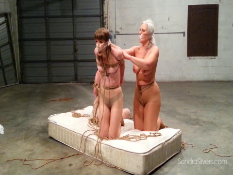 Triple Escape attempt for Pantyhose-clad MOTHER ID LIKE TO FUCK Captives! Brunette