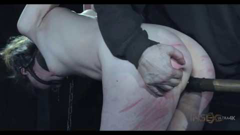 Hard tying, spanking and punishment for in natures garb slavegirl HD 1080p