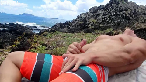 Blonde Island Muscle Stud Danny