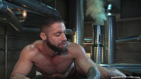 At the iron machine