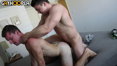 GayHoopla - Collin Simpson Stretches Otter Bottom Boy Chad Blue To His Limit
