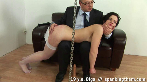 Lazy Student Gets An Ass Spanking (Olga) ST
