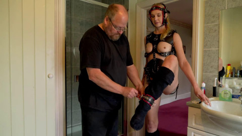 Bondage, spanking and domination for blond servant part 3 Full HD 1080p