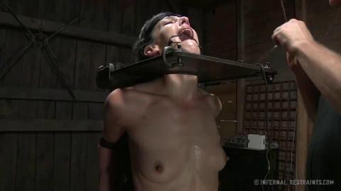 Tight bondage, strappado and torture for horny slavegirl part 3