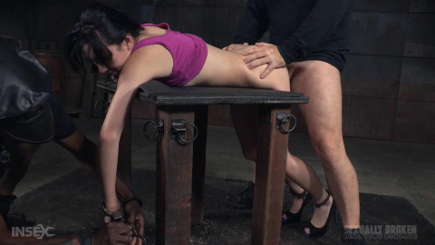 ria Alexanders BaRS show continues with handcuffed rough sex and punishing drooling deepthroat!