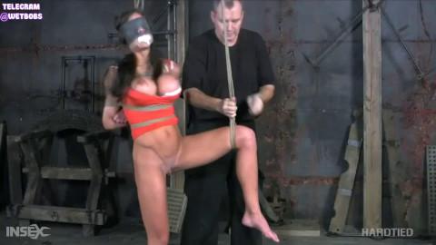 Bondage, spanking and hog tie for exposed dark brown part 1 Full HD 1080p