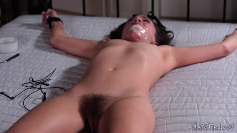 Tight restraint bondage and pain for marvelous exposed model HD 1080p