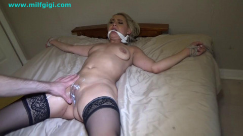 Tied up & screwed by bearded intruder