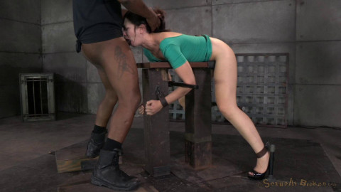 Sarah Shevon restrained and used heavy from the one and the other
