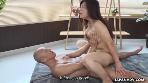 Satomi Katayama gives a lot of milk while she is fucked FullHD 1080p