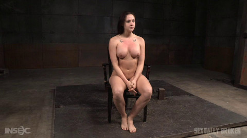 Lush brunette Chanel Preston tightly tied in rope and roughly fucked