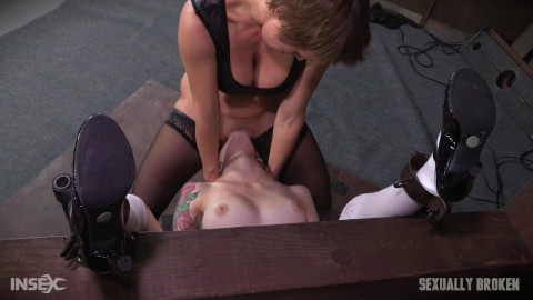 Anna De Ville is fed cock and pussy while bound and helpless! Dominated to cum over and over!