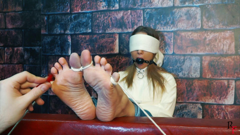 Bdsm Most Popular Ameliya lengthy tickle torment with bound toes