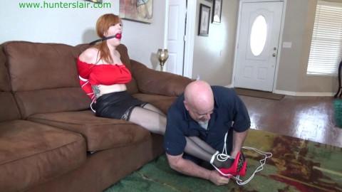 HunterSlair - Lauren Phillips - Busty redhead bibos brutal breast bondage