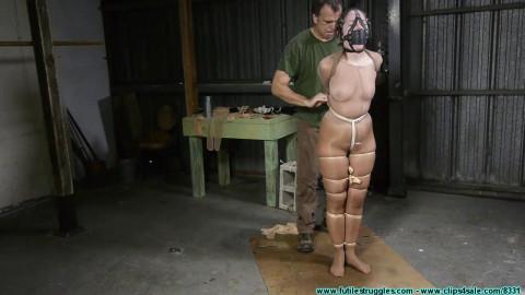 Rachel Encased in Pantyhose then a Mummified Strappado - Part 1