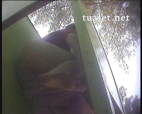 Hidden camera in the beach cabin