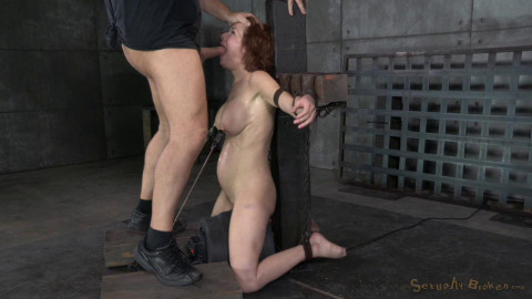 Stunning busty Veronica Avluv does brutal drooling deepthroat