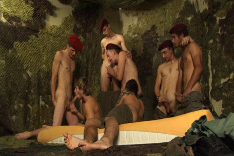 Military Gangbang With Young Recruits