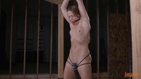 Toned Hottie Tied And Tormented With Orgasms