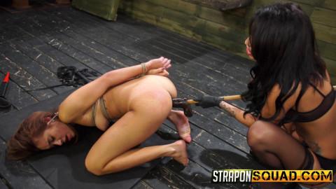 Marina Angel Endures Lesbian Domination Threesome with Esmi Lee & Abella Danger