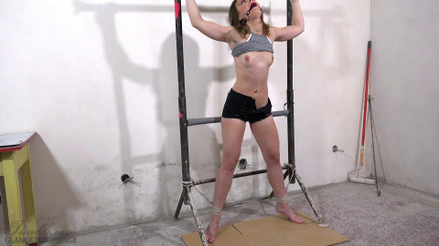 Lillith Sweet bound to the rack