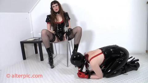Teased in Medieval Restraint bondage -  Anna Rose and Janna Grace