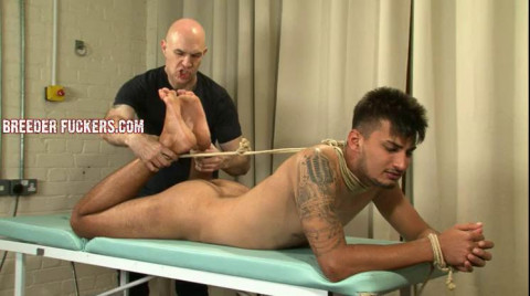 Liam - Tied bare, breath control, foreskin clamped